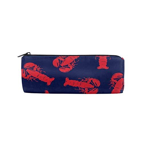 UNIQUEISME Pencil Bags Cosmetic Toiletry Makeup Bag Pouch Black Zipper Storage Bag Boardshorts Red Lobster Portable Makeup Bag Pencil Case