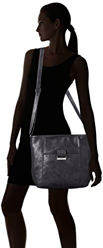 GERRY WEBER Be Different Shoulder Bag V, L - bolsa de medio lado Mujer Dark Grey (Gris)