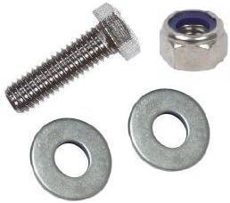 4 Flat Washers /& 2 Nyloc Nuts A2 Stainless Steel 6mm Metric Thread Bolt with Nut /& Washers Fully Threaded M6 X 40mm Hexagon Head Bolts // Setscrew 2 Pack Free UK Delivery