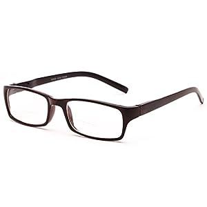 Readers.com The Vancouver Bifocal +2.75 Tortoise/Black Unisex Simple Rectangle Bifocal Reading Glasses
