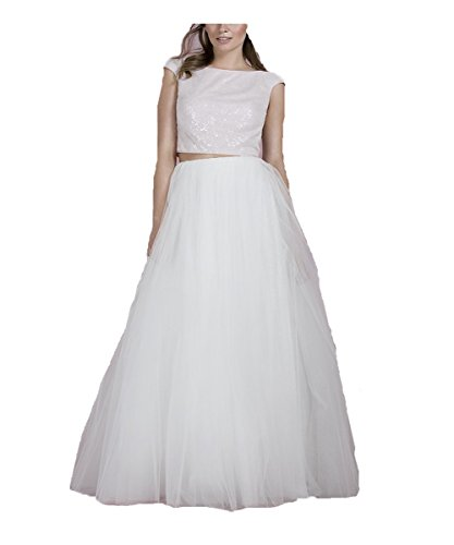 Women's Dress Wedding Gown DYS Dresses Two White Boho Piece ZqzHvwRW