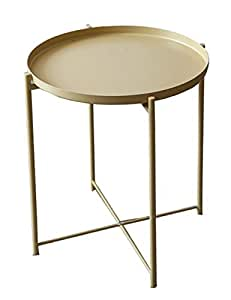 Amazon.com: Wrought Iron Side Table/Coffee Table, Simple ...