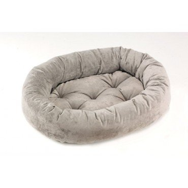 Bowsers Microvelvet Donut Dog Bed (Granite, X-Large (50in x 36in)) (Donut Double Bed Microvelvet)
