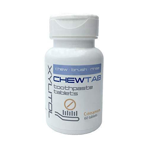 Chewtab Toothpaste Tablets (Cinnamon, 60 Tabs)