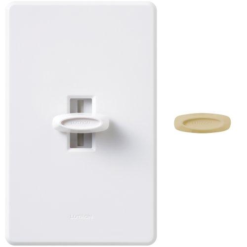 Dk Dimmer (Lutron GL-600H-DK 600-Watt Glyder Single Pole Dimmer, White/Ivory)