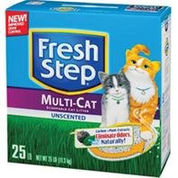 fresh-step-litter-multi-cat-scoopable-unscented-25-lb