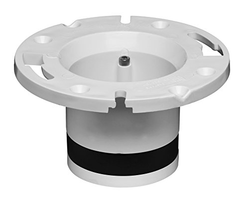 Oatey GIDDS-173390 43539 Replacement Flange for CAST Iron, 4-Inch, PVC (Flange Adjustable Toilet)