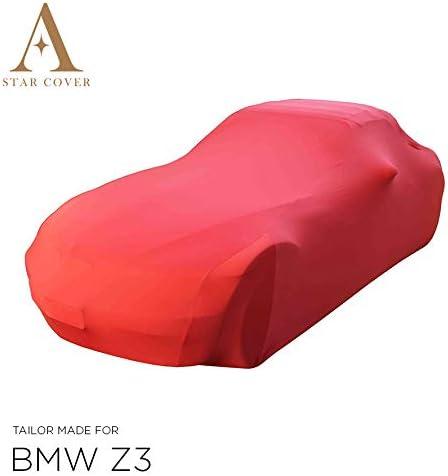 Oldtimer LIVR/É Rapide B/ÂCHE Auto Garage Voiture DE Sport Housse Cabriolet Rouge Housse Star Cover Housse INT/ÉRIEUR Compatible avec BMW Z3 Roadster E36