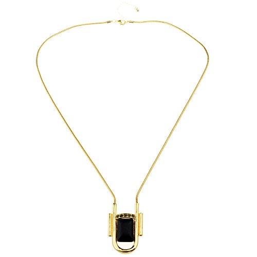 Btime Simple Female Rammel Golden Lock Shape Necklace