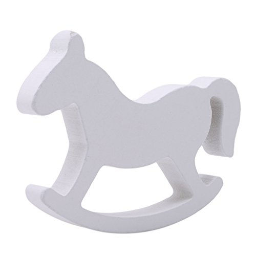 SOURBAN Wooden Small Rocking Balance Horse Desk Decor Craft Home Decor Kids Toys wood hand Carved Gifts Children's Room Decoration ()