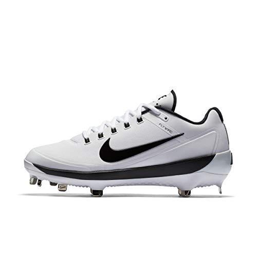 Nike Men's Air Clipper '17 Metal Baseball Cleats (11 M US, White/Black)