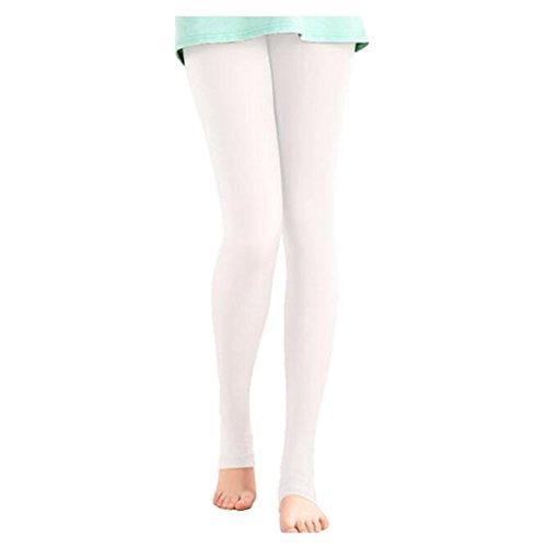 FANCY PUMPKIN Golf Sun Protection Golf Pants Cool Ice Silk Stocking Sport Leggings-White