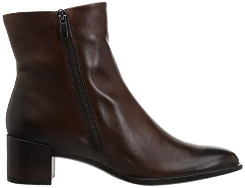 Ecco Braun bison Block Femme Boot 35 1022 Bottines Shape Ankle w1wFpqUP