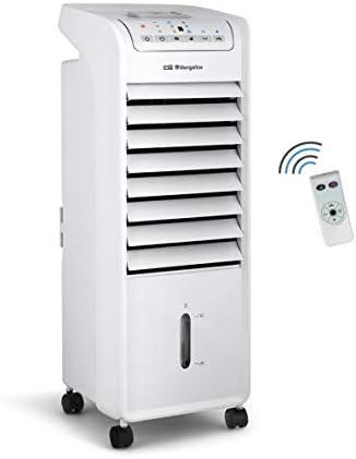 Fernbedienung Klimager/ät und Luftbefeuchter Ventilator Timer bis zu 7 Stunden Orbegozo AIR 46 Tragbarer 3-in-1-Klimaanlage 55 W Leistung leise 3 Geschwindigkeiten