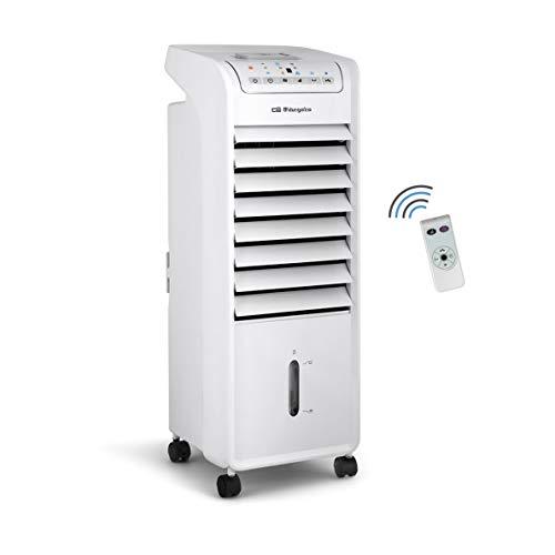🥇 Orbegozo AIR 46 – Climatizador portátil evaporativo 3 en 1: ventilador