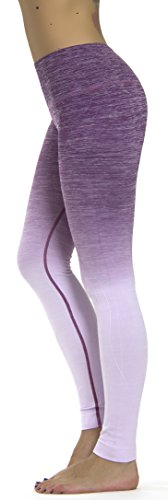 Prolific Health Fitness Power Flex Yoga Pants Leggings   All Colors   Xs   Xl  Medium  Lavender Ombre