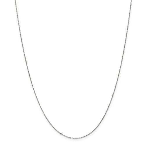 Ring White Snake Gold (10k White Gold .8mm Link Cable Chain Necklace 24 Inch Pendant Charm Round Fine Jewelry For Women Gift Set)