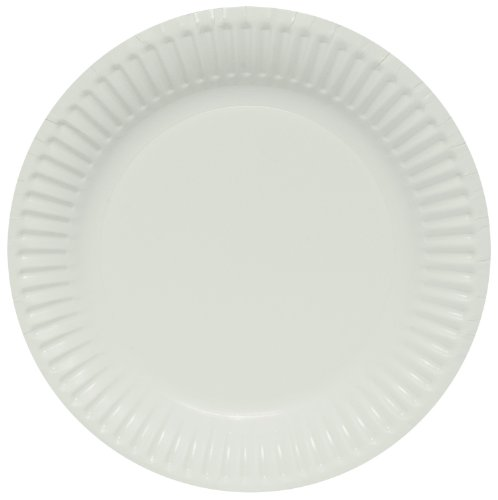 Solo LP9B-2054 9 in White Paper Plate, Light Weight (Case of 1000) ()