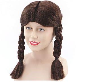 Brown Ladies Schoolgirl Wig (Halloween Pigtails)