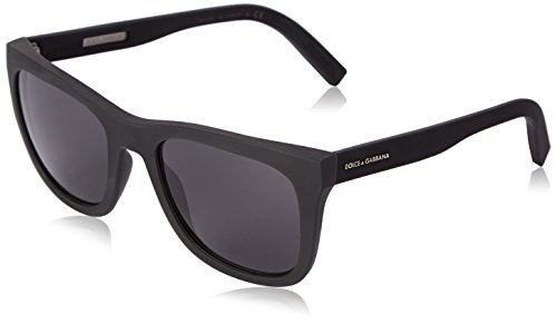 D&G Dolce & Gabbana Mens 0DG2145 Square Sunglasses, Black Rubber, 53 - Frames D&g Optical