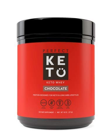 Pure Chocolate Whey Protein Powder Isolate by Perfect Keto | Delicious 100% Grass Fed Whey | All Natural | No Artificials, Gluten Free, Soy Free, Non-GMO