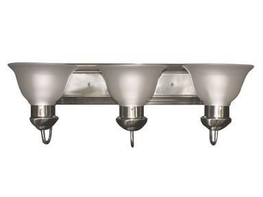 Light 3 Tulip - Maxlite 1408625 ML8E303TUNI27 VANITY BAR TULIP NICKEL FINISH WITH 3X10W 2700K JA8 COMPLIANT E26 SOCKET LED LAMP