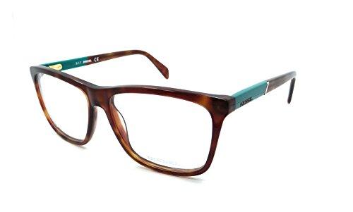 Diesel Rx Eyeglasses Frames DL5131 052 55-14-145 Havana / Teal