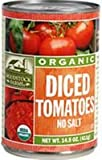 Woodstock Tomatoes, Organic, Diced, Unsalted, 14.50-Ounce (Pack of 12)