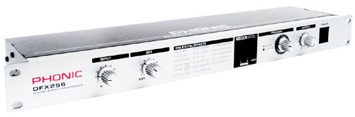 Phonic 1 Rack Unit Dual-Channel Multi-Effects Processor DFX-256 ()