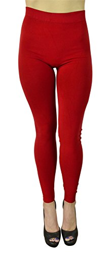 belle-donne-womens-solid-color-warm-winter-kermo-fleece-legging-red