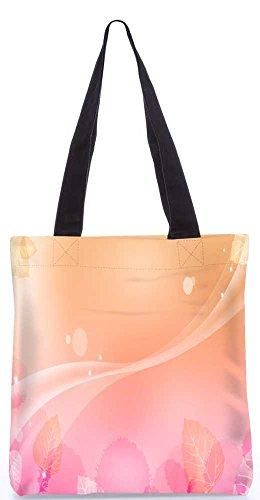 """Snoogg Abstrakte Blätter-Muster-Entwurf Taschen 13,5 X 15 In """"Einkaufstasche Dienstprogramm Trage Aus Polyester Leinwand"""
