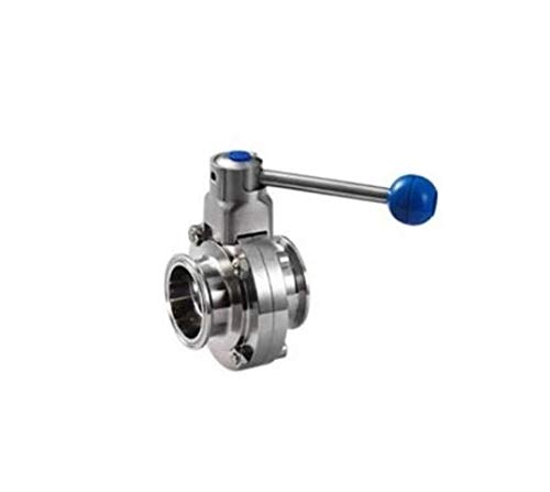 Maslin 2'' 51mm Tri Clamp Butterfly Valve Stainless Steel 304 - Pull Trigger