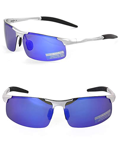 0b02239c95 Ronsou Men Sport Al-Mg Polarized Sunglasses Unbreakable For Driving Cycling  Fishing Golf