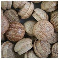 """WIDGETCO 1/2"""" Oak Button Top Wood Plugs"""