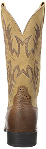 Ariat Western Brown Tumbled Men's Stockman Beige Heritage Boot HqCHwr6