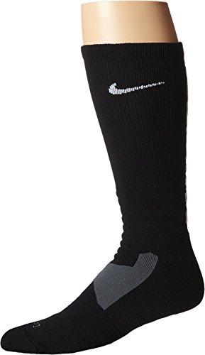 Nike Hyper Elite Crew Basketball Socks Black/White Size Small