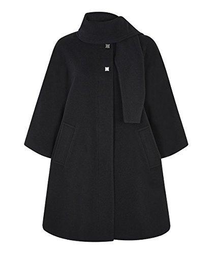 LA CREME - donna poncho donna lana e cashmere scialle dettaglio MANTELLA Misura unica De La Creme 130-CAPE