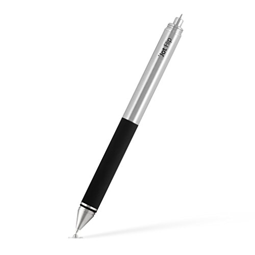 Adonit Jot Flip Fine Point Precision Stylus and Pen for iPad, iPhone, Android, Kindle, Samsung, and Windows Tablets - Stainless Steel by Adonit