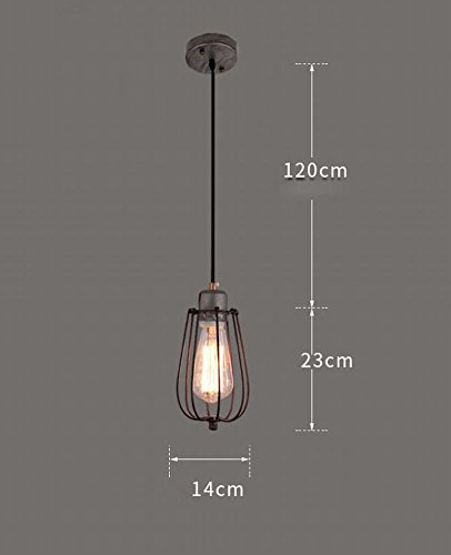DEN American country creative retro industrial style restaurant bar bar diffuse coffee chandelier,D,One size by DEN