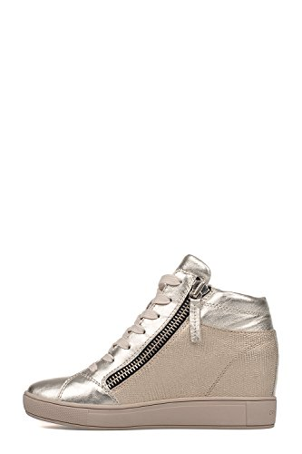 Crime London Hi Top Sneakers Donna 25335S17B26 Pelle Argento/Oro