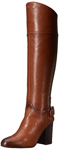 Vince Camuto Women's Sidney Riding Boot, Warm Brown, 5.5 M U