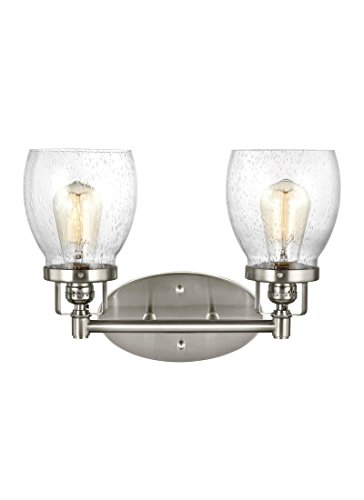 Sea Gull Lighting 4414502-962 Belton Vanity 2, Two-Light, Brushed Nickel Finish by Sea Gull Lighting