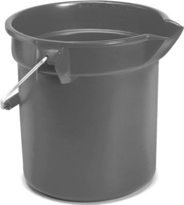 Rubbermaid Comm Prod 2963-00-GRAY 10QT GRY Round Bucket - Quantity 12 by Rubbermaid