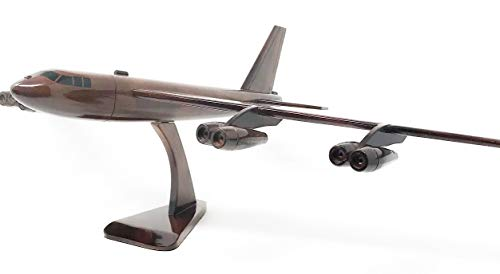 B-52 Stratus Fortress Replica Airplane Model Hand Crafted with Real Mahogany Wood