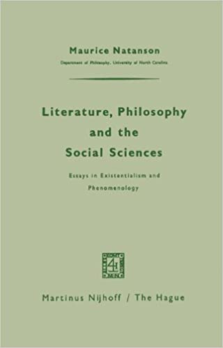 literature philosophy and the social sciences essays in  literature philosophy and the social sciences essays in existentialism and phenomenology 1962nd edition