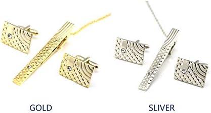 Qifumaer Daily Pince /à cravate pour homme Business V/êtements Collier broches Collier Pince /à cravate Cadeau pour homme 6x0.6cm dor/é