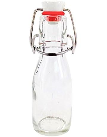 Nutleys - Botella de cristal con cierre de cerámica (6 unidades, 100 ml)