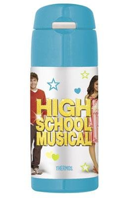 Thermos Funtainer Beverage Water Bottle Stainless Steel Bpa Free 12 Oz With Straw Blue High School Musical by Thermos Nissan