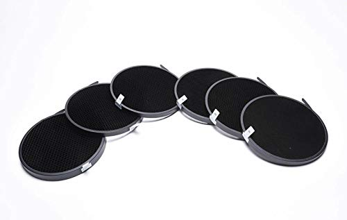 - FidgetGear 180mm 10° 20° 30° 40° 50° 60° Honeycomb Grid Kit for Profoto Zoom Reflector 2 II
