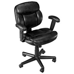 Brenton Studio(R) Ariel Low-Back Task Chair, Black